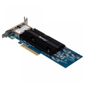 Placa de Rede PCIe Synology Ethernet 10GB 2 Portas RJ45 - E10G18-T2