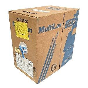 FURUKAWA-CABO TRANSMISSAO DE DADOS MULTILAN U/UTP 24AWGX4P CAT.5E CMX AZUL ROHS (CAIXA)