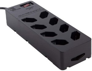 Protetor DPS iCLAMPER Energia 8 tomadas Filtro de linha (Preto)