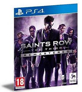 SAINTS ROW THE THIRD REMASTERED PS4 PSN MÍDIA DIGITAL