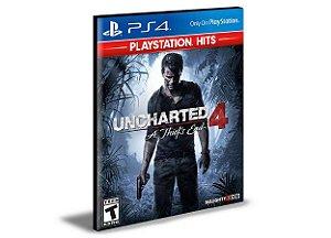 Uncharted 4 A Thief'S End - Ps4 Psn Mídia Digital