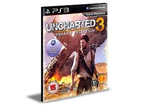Uncharted drakes Deception 3 PS3 PSN MÍDIA DIGITAL