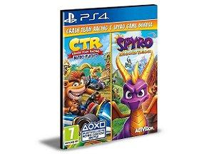 Pacote de jogo Spyro + Crash Remastered - PS4 PSN MÍDIA DIGITAL