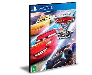 CARROS 3 CORRENDO PARA VENCER PORTUGUÊS PS4 E PS5 PSN MÍDIA