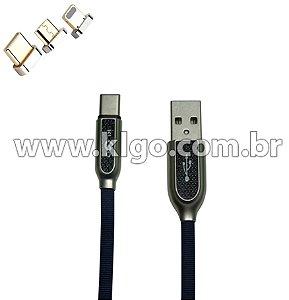 Cabo USB KLGO S97 Tipo C para Dados e Carregamento