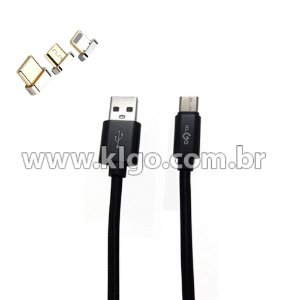 Cabo USB KLGO S52 Tipo C para Dados e Carregamento