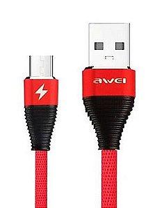 Cabo USB AWEI CL28 Android Micro USB V8 para Dados e Carregamento