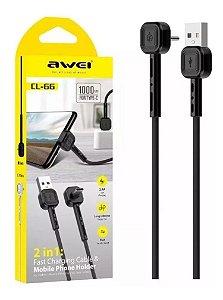 Cabo USB AWEI CL67 Android Micro USB V8 para Dados e Carregamento