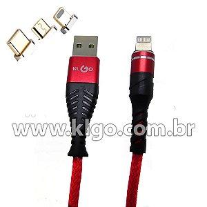 Cabo USB KLGO S59 Tipo C para Dados e Carregamento