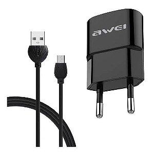 Carregador AWEI C831 Android Micro USB V8  (Cabo + Tomada)