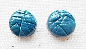 Brincos azul cerúleo