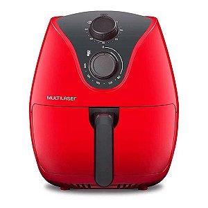 Fritadeira sem óleo Multilaser Air Fryer 4 L Gourmet vermelha