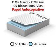 BLOCOS E TALÕES 50 FOLHAS AUTOCOPIATIVO 56G 2 VIAS 150X100MM - 1X0 5UN
