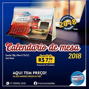 CALENDÁRIOS CALENDÁRIO DE MESA WIRE O COM 12 PÁGINAS COUCHÊ 145G - 4X4 - 50unid