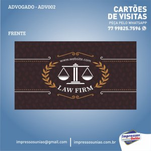 CARTÃO DE VISITAS PARA ADVOGADO - ADV002