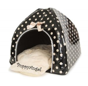 Casinha puppy angel polkadot camp bege