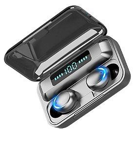 Fone Bluetooth 5.0 Tws F9-5c Earbuds Esportivo - Preto