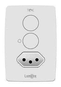 Interruptor Programável Touch 2 pads c/ Tomada - Tok