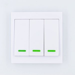 Painel De Parede 3 Botões Sem Fio Rf 433.92 Mhz