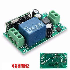 Interruptor 1 Canais Sem Fio RF 433 MHZ (85v~220v)