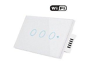 Interruptor 3 Vias WIFI parede - Casa Inteligente-Smart Life