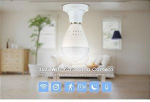 Câmera Wifi - Lâmpada IP 360° - Visão Noturna