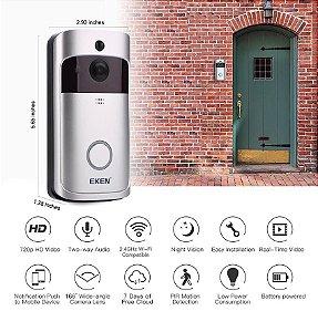 Campainha Camera e Áudio-WI-FI Sem Fio Inteligente e Alarme