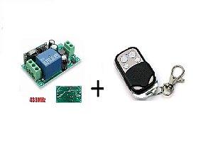 Kit 01 Interruptor Sem Fio RF433(85v~220v) + Controle 433Mhz