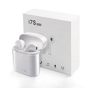 Fone de Ouvido Sem Fio BluetoothEstéreo com caixa carregador