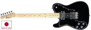 Guitarra para Canhotos Fender 525 0519 - 70S Tele Custom LH - 906 - Black