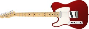 Guitarra para Canhotos Fender 011 3222 - AM Standard Telecaster LH MN - 794 - Mystic Red