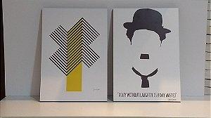 Conjunto de Pôsteres Charlie Chaplin - Quatro Lados