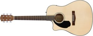 Violão para Canhotos FENDER Dreadnought 096 1706 - CD-60 SCE LH - 021 - Natural