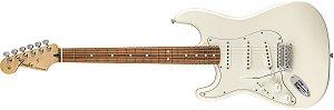 Guitarra para Canhotos FENDER 014 4623 - Standard Stratocaster Pau Ferro LH - 580 - Artic White