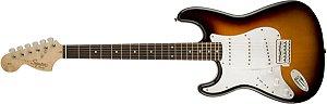 Guitarra para Canhotos Fender 037 0620 - Squier Affinity Stratocaster LH LR - 532 - Brown Sunburst