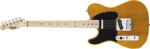 Guitarra para Canhoto FENDER 031 0223 - Squier Affinity Telecaster LH - 550 - Butterscotch Blonde