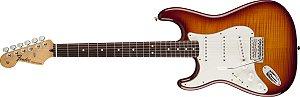 Guitarra para Canhotos FENDER 014 4621 - Standard Top Plus Stratocaster LH RW - 552 - Tobacco Sunburst
