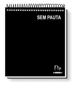 Caderno Flip Neutro Sem Pauta 160 FLS (10 MATÉRIAS)