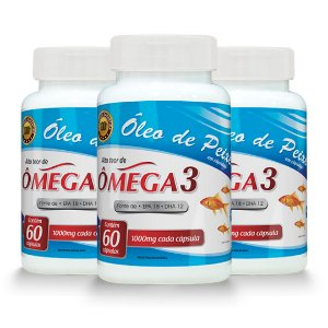Kit do Ômega 3 (Para 90 dias - 3 meses - 3 potes de 60 Cápsulas)