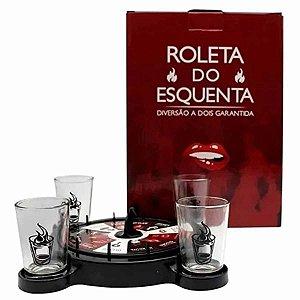 Drink Jogo de Roleta c/ 4 Shots - Esquenta o Amor