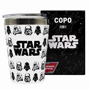 Copo Viagem Inox 300ml Snap Zona Criativa Star Wars