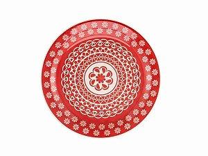 Prato Redondo Sobremesa 20cm Oxford - Floreal Renda