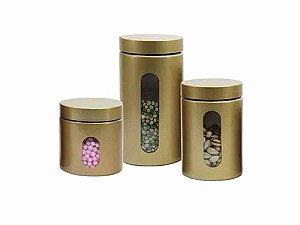 Conjunto de Potes Herméticos de Vidro 3Pçs Hauskraft