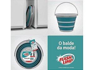 Balde Dobrável Retrátil 10 Litros FlashLimp Original