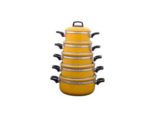 Conjunto De Panelas 5pç 1137 Borda Extra Amarelo Laredu