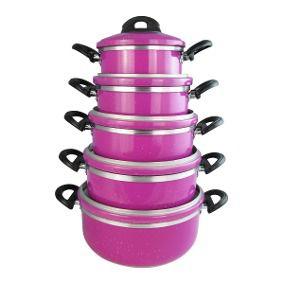 Conjunto de Panelas Laredu 5Pçs Borda Extra 1137 Pink