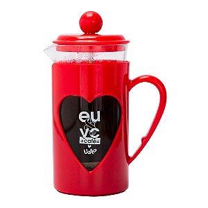 BULE PRENSA DE CAFÉ UATT EU & VOCÊ DEFINIÇÃO 350ML VERMELHO