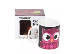CANECA MAGIC 300ML ZONA CRIATIVA 10020701 CORUJA ROSA