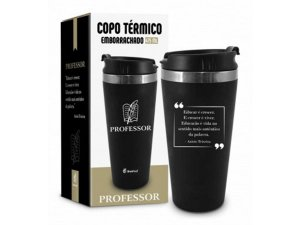 COPO TÉRMICO 450ML BRASFOOT EMBORRACHADO CURSO PROFESSOR