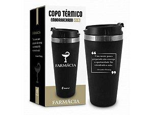 COPO TÉRMICO 450ML BRASFOOT EMBORRACHADO CURSO FARMÁCIA
